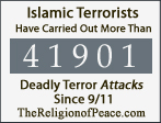 ISLAMIC TERRORISTS, have carried out more than XXXXX deadly terror attacks since 9/11 TheReligionOfPeace.com